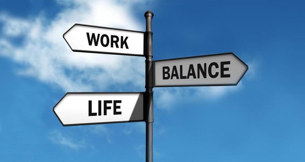 Work life balance sign post