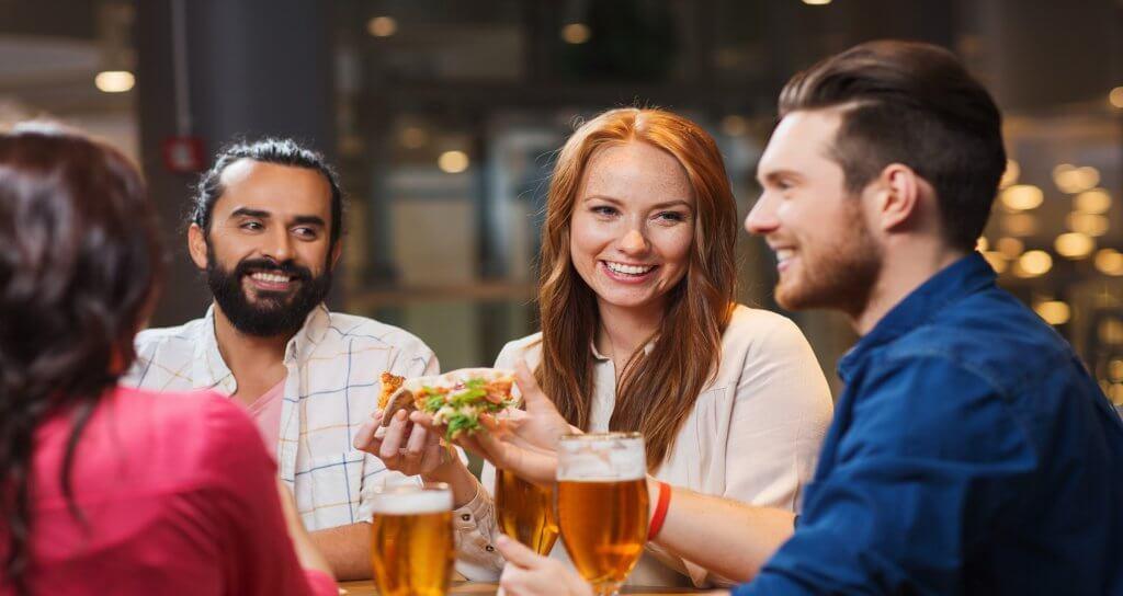 adults having dinner